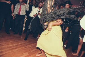 Solange-dances-at-moms-60th-birthday-party
