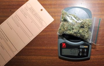 A picture shows sealed marihuana Lille's