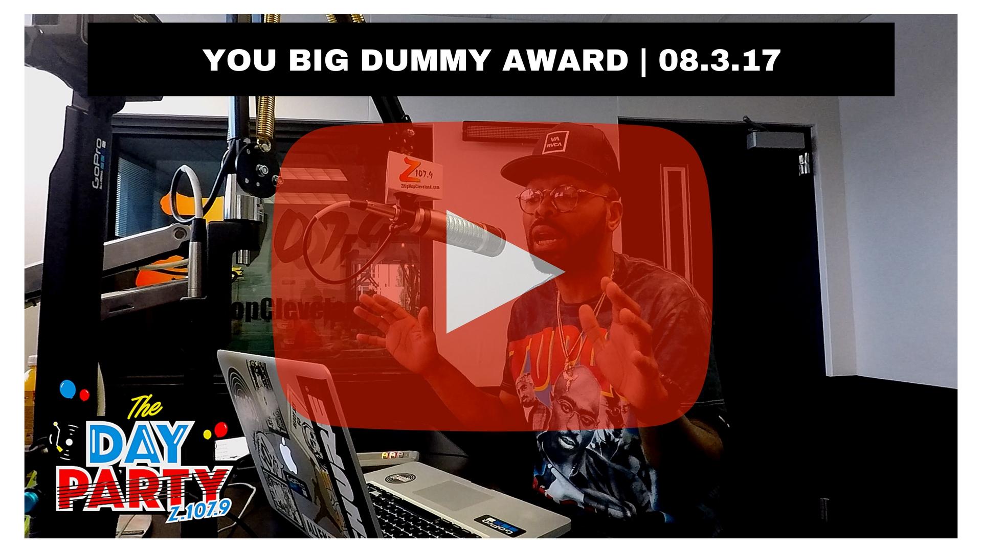 YOU BIG DUMMY AWARD _08.-3.17