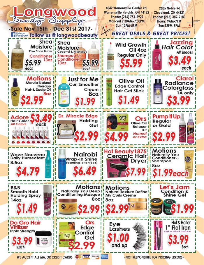 Longwood Beauty November Sales