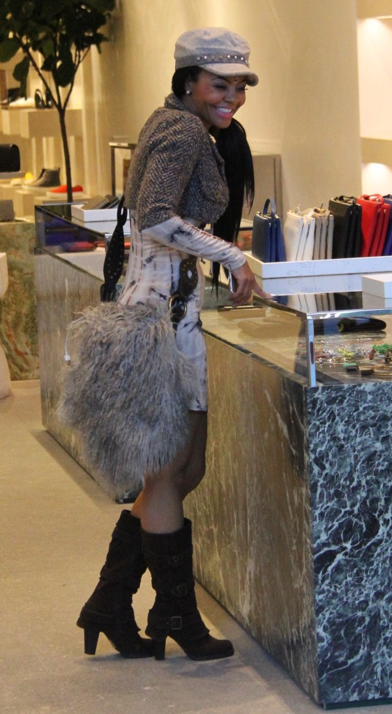 Carmen Bryan shopping in Beverly Hills