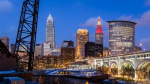 Large Panoramic, Cleveland, Ohio, America