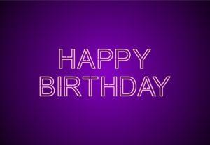 Happy Birthday Neon Glowing signboard