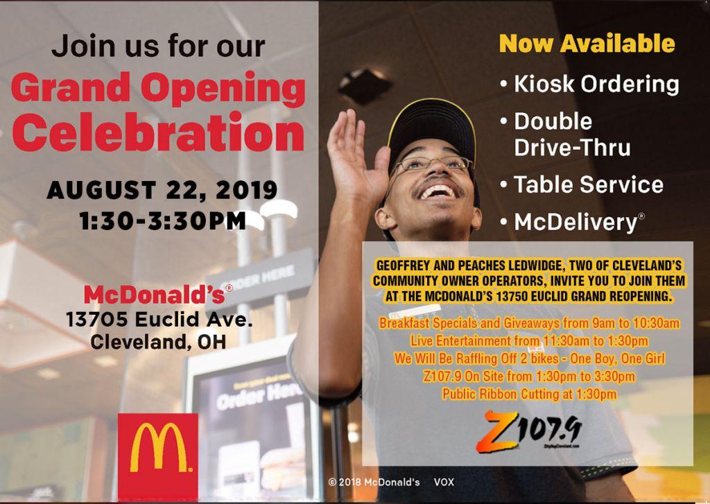 McDonalds Regrand opening