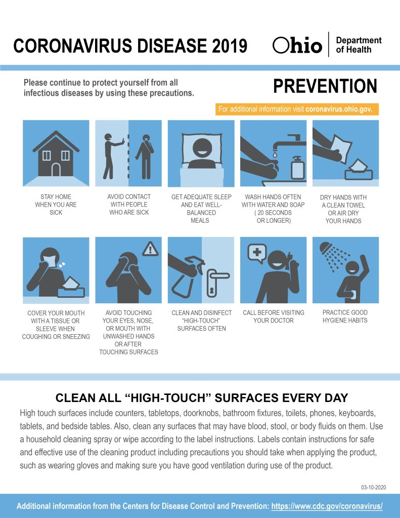 Cuyahoga County Board of Health COVID-19 Awareness