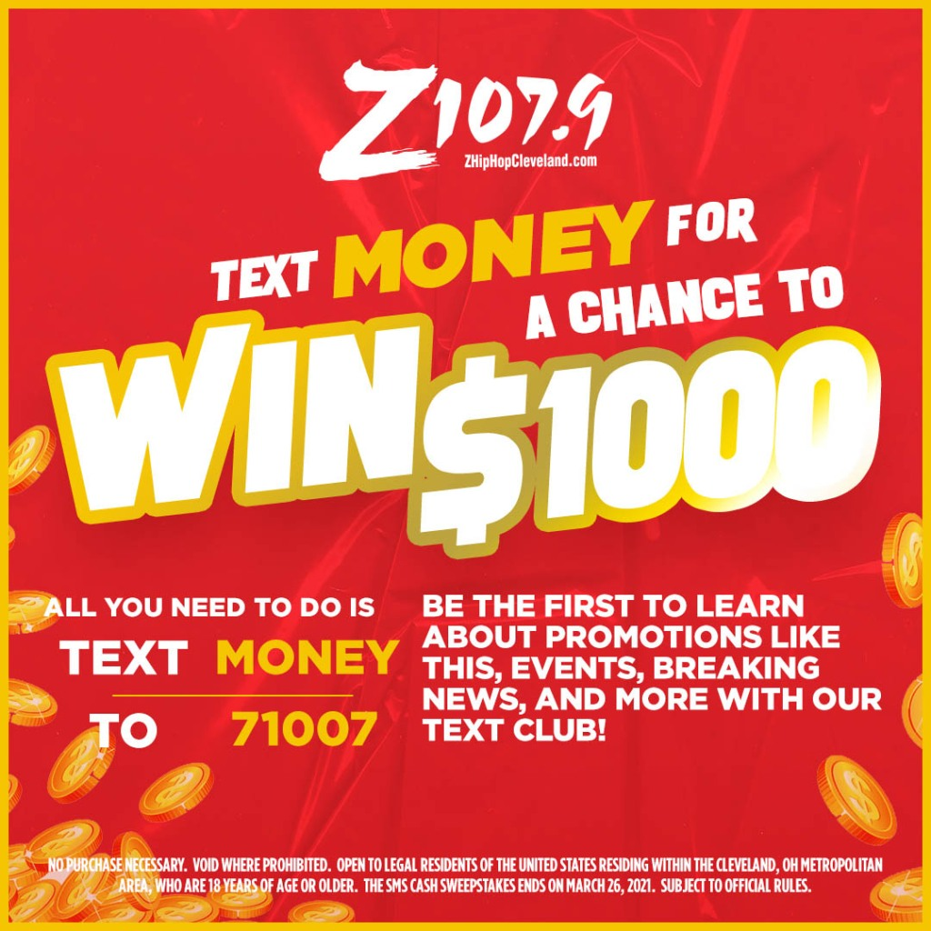 Z107.9 Text To Wish Cash Contest March 2021