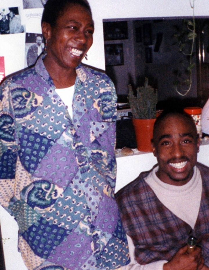 Tupac with his mother Afeni Shakur