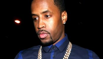 Safaree Samuels and Das Hershes arriving at BOA Steakhouse