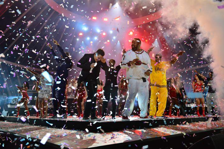 Biz at Pitbull's 2017 New Year's Revolution in Miami
