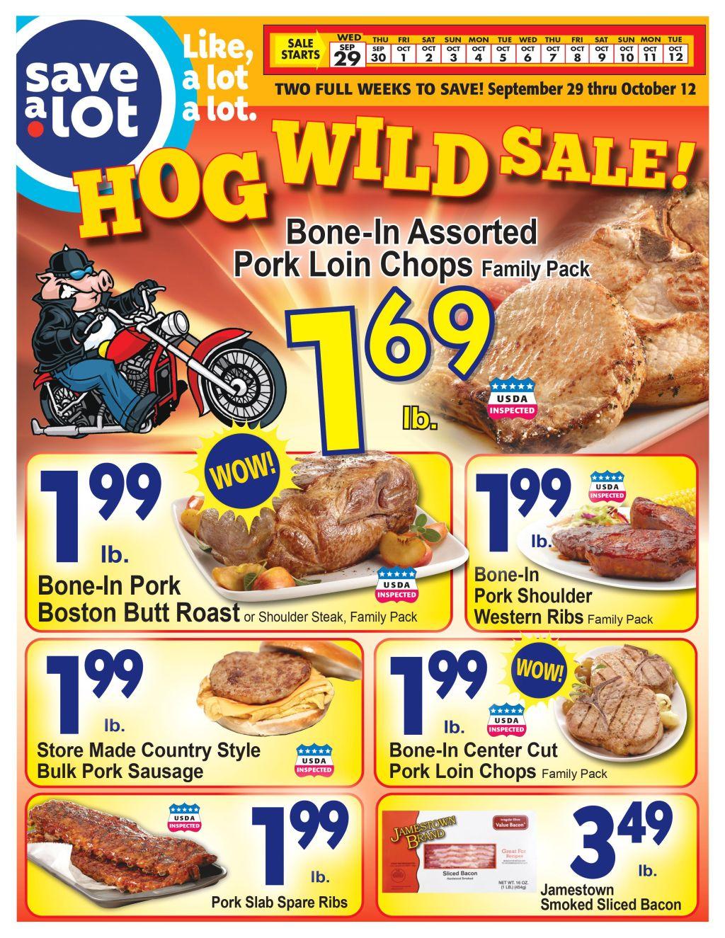 Save A Lot Hog Wild Sale